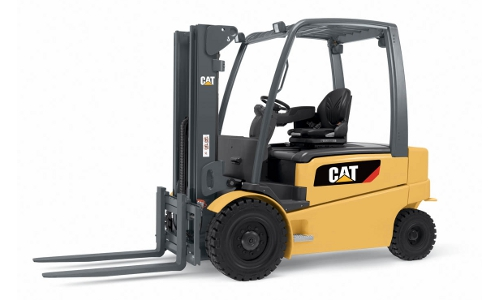 Cat Forklift Side View