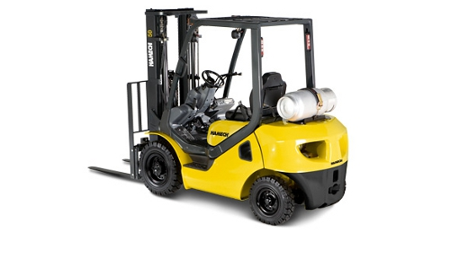 Hamech LPG Forklift Rear View