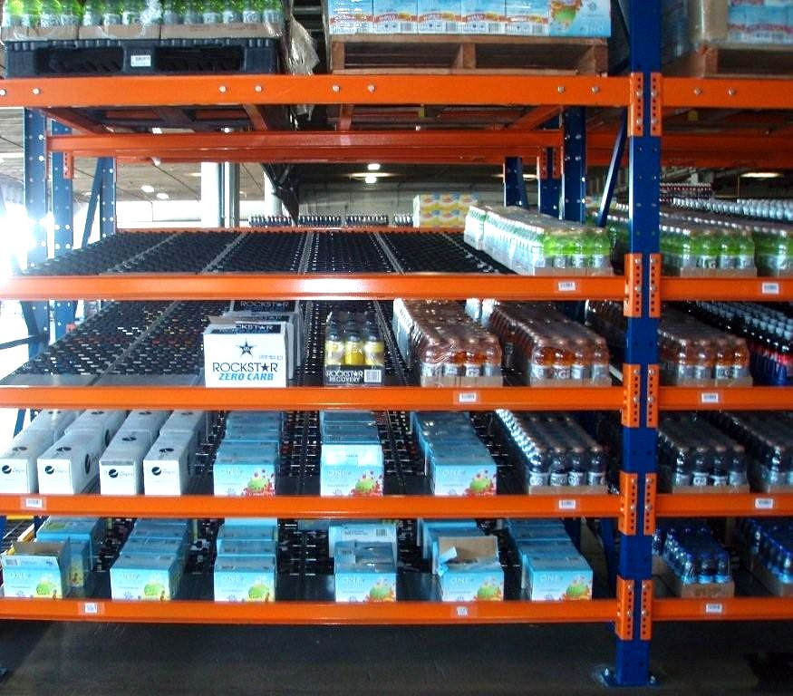 warehouse roller shelving