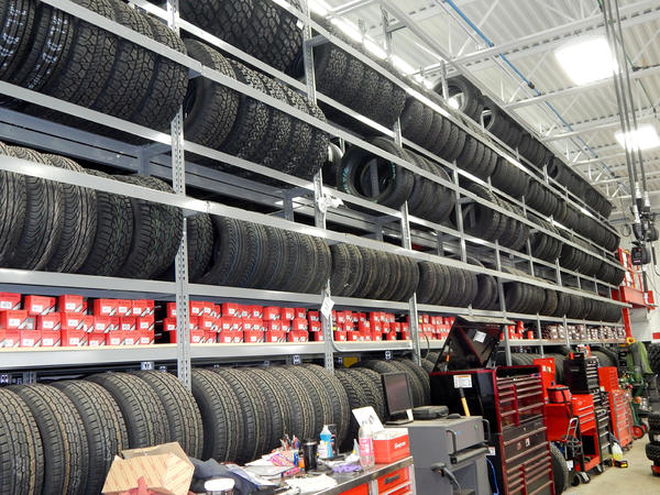 warehouse tire racks